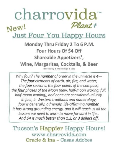 Just Four You Happy Hours
